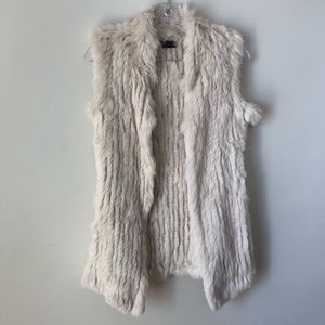 Love Token cream fur vest. Excellent condition